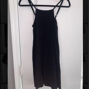 Medium black thin strap dress